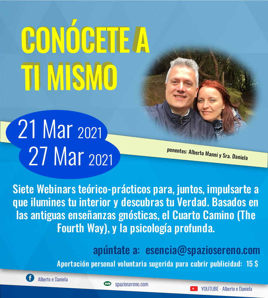 Conócete a ti mismo!cursos Marzo-Mayo 2021